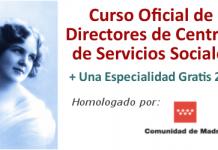 curso oficial de directores de centros de servicios sociales