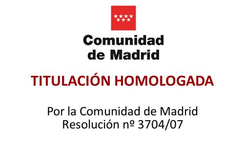Formación Homologada por la Comunidad de Madrid