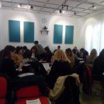 Los asistentes del 2 Encuentro Coordinación de Parentalidad  durante una actividad